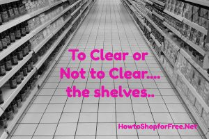 To Clear or Not to Clear …The Shelves