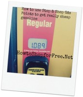 Stop & Shop Printable Gas Point List with Coupon Match Ups