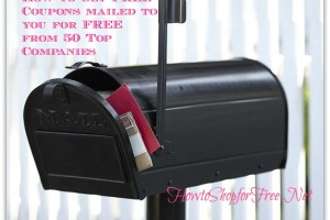 How to get FREE Coupons mailed to you for FREE  from 50 Top Companies
