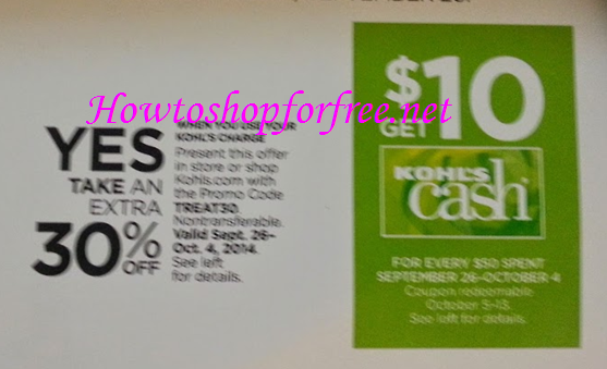 30 off kohls coupon code may 2018