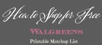 Walgreens Coupon Match Ups – Oct 22 – 28