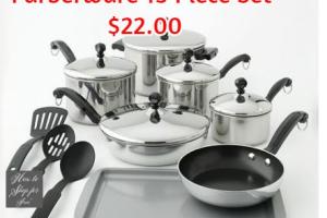 Farberware 15 Piece Set as low as $22.00!!!