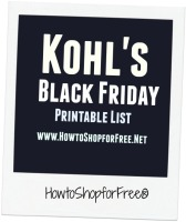 Kohl's  Black Friday 2016