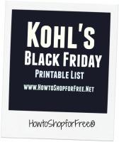 Kohl's  Black Friday 2016