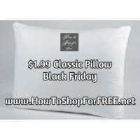 $1.99 Classic Bed Pillow @ Sears ~ BLACK FRIDAY