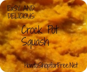 Crock Pot Butter Nut Squash;   Simple Easy and Delicious!
