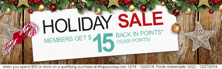 $15 holiday points