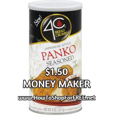 4c panko bread crumbs $1.50 mm
