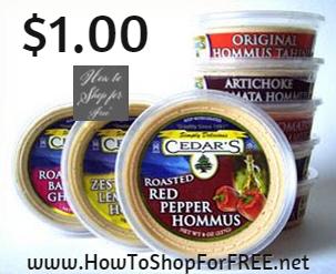 cedar's hummus $1