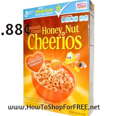 honey nut cheerios .88