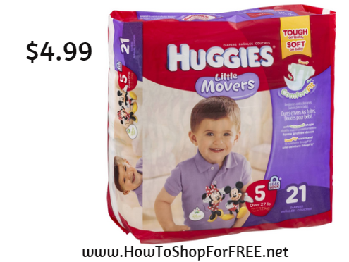 huggies diapers 4.99