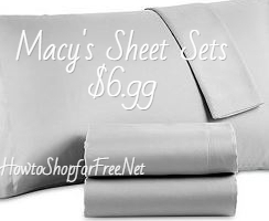 Twin Size Sheets Sets $6.99  at Macy's            HURRY!!!  HOT DEAL!!!