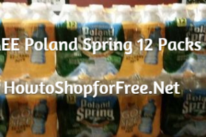 FREE Poland Spring Water  thru 12/11