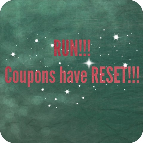 Coupon have reset