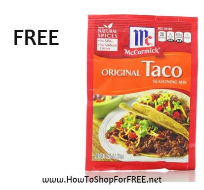 Mccormic taco FREE