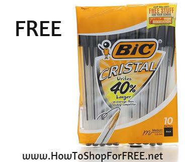 bic crystal 10pk FREE