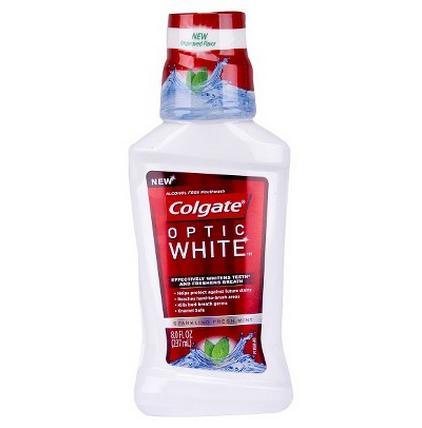 colgate total optic white rinse--