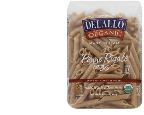 dellago whole wheat pasta--