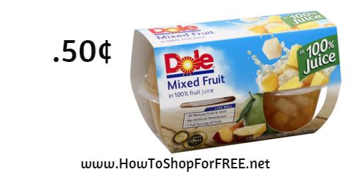 dole fruit cup.50