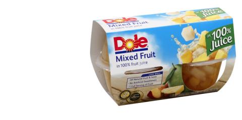 dole fruit cups--