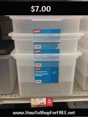 Staples® Letter/Legal File Box – $7.00 at Staples | How to Shop