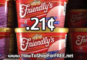 .21 For Friendly's Ice Cream At Walmart 1/9 – 1/11