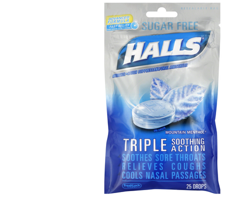 halls cough drops--