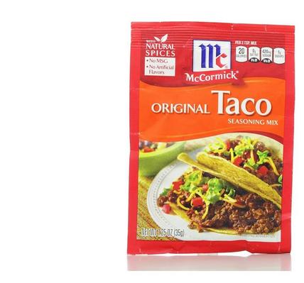 mccormic taco packet--