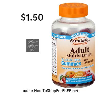 sundown adult gummies -1.50