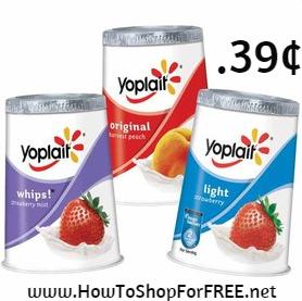 yoplait yogurt .39