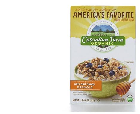 Cascadian farm cereal--