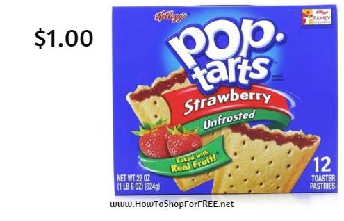 Kellogg's pop tarts 12pk $1