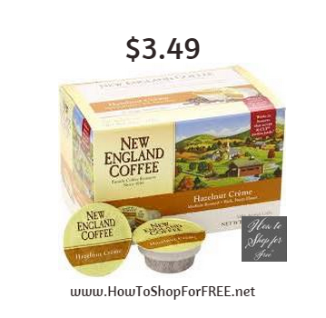 New England coffee kcup3.49