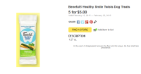 $2 Overage On Beneful Healthy Smile Dog Treats At Dollar General