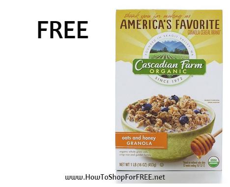 cascadian farm FREE