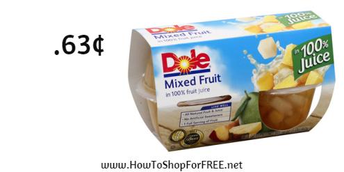 dole fruit cups .63