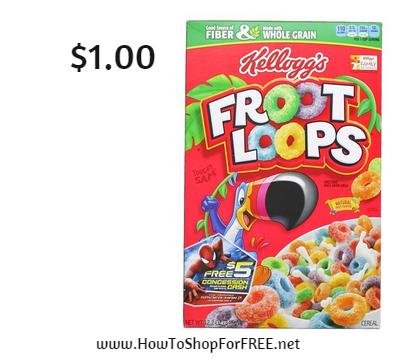 kellogg's fruit loops $1