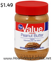 kroger brand peanut butter 1.49
