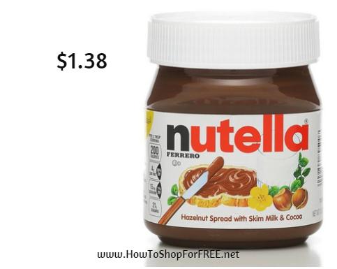 nutella $1.38