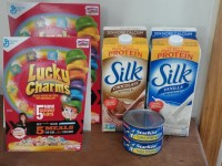 Silk Soymilk, Lucky Charms, and Tuna .88 each at Shaw's