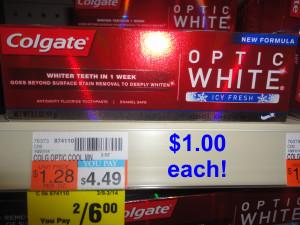 Colgate Optic White $1.00