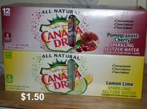 canada dry 1.50 seltzer