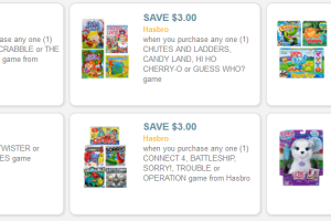 HOT Hasbro Toy Coupons