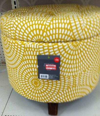 The Storage ottoman is 50% off - Target 50 – 70% Off Home Goods - Yellow Ottoman Storage House PR