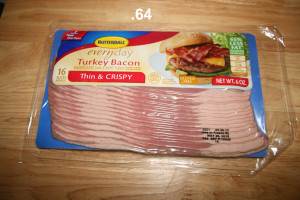turkey bacon .64