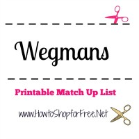 Wegmans Coupon Match Ups – August 20th – August 27th