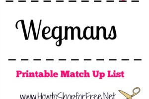 Wegmans – April 1st – April 8th