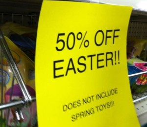 50 off easter