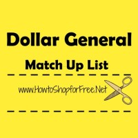 Dollar General Coupon Match Ups – Oct 01 – Oct 07
