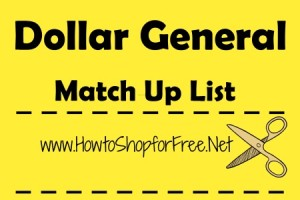 Dollar General Coupon match Ups – Oct 15 – Oct 21